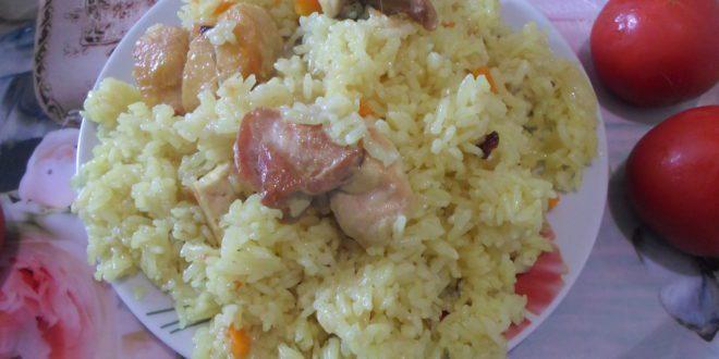 Вкусный плов с курицей в казане рецепт с пошагово