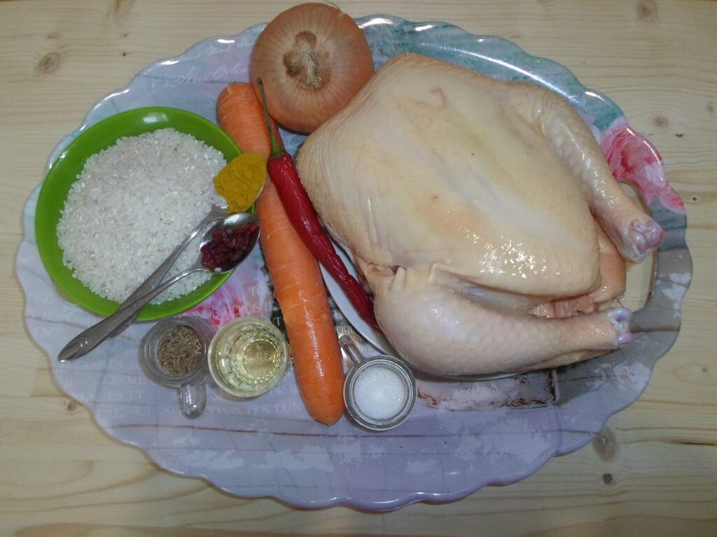 Плов в горшочке в духовке с курицей-пошаговый рецепт с фото