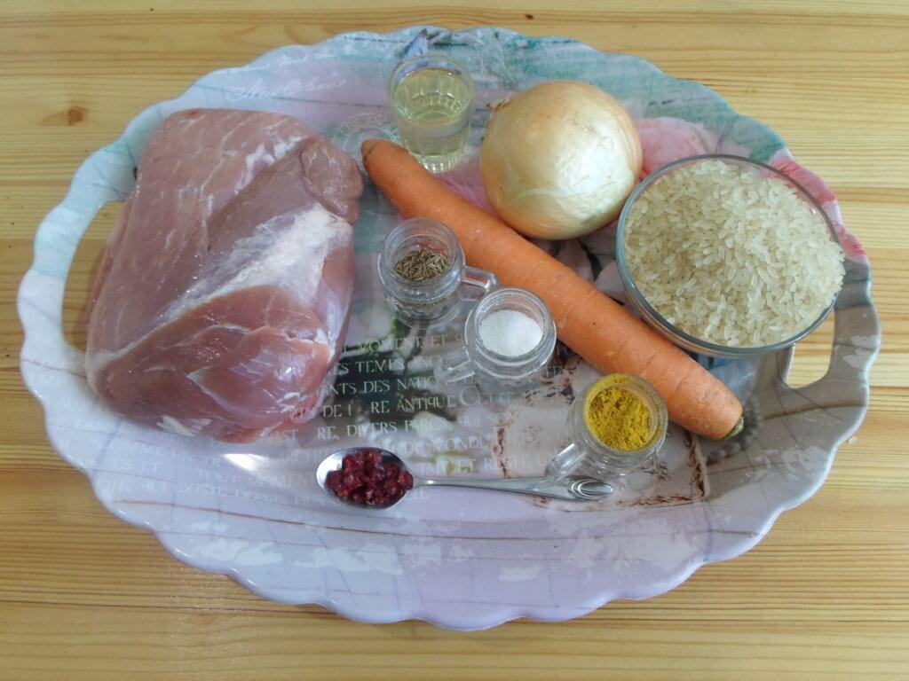 Рецепт плова со свининой в сковороде пошагово
