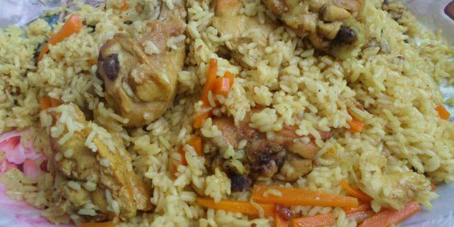 Плов из пропаренного риса с курицей рецепт с фото пошагово
