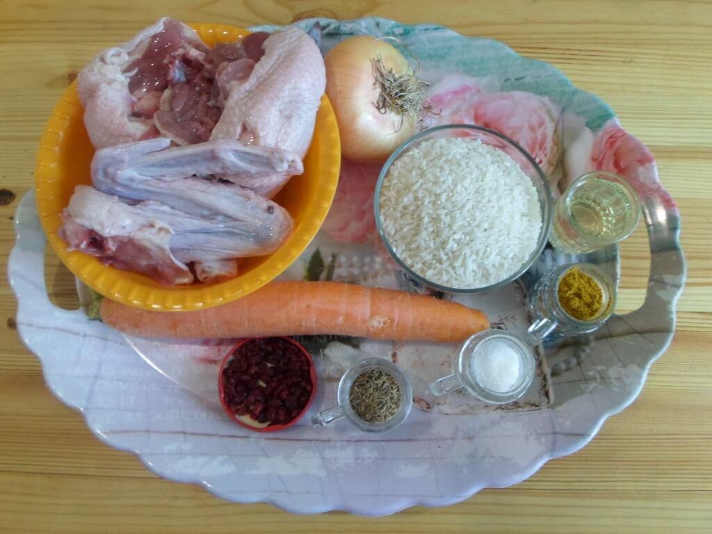 Ингредиенты для плова из утки