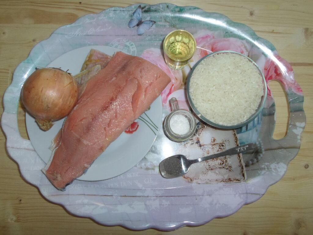 Плов с рыбой - рецепт с фото