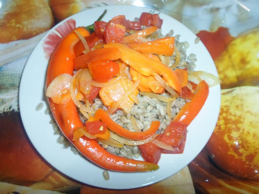 Плов из перловки с мясом-пошаговый рецепт с фото