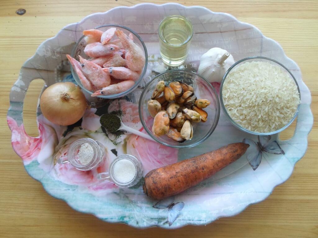 Плов с креветками и мидиями рецепт