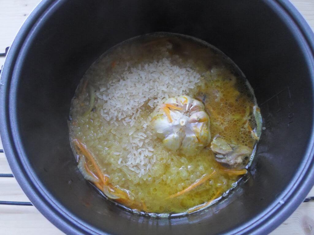 Плов из пропаренного риса