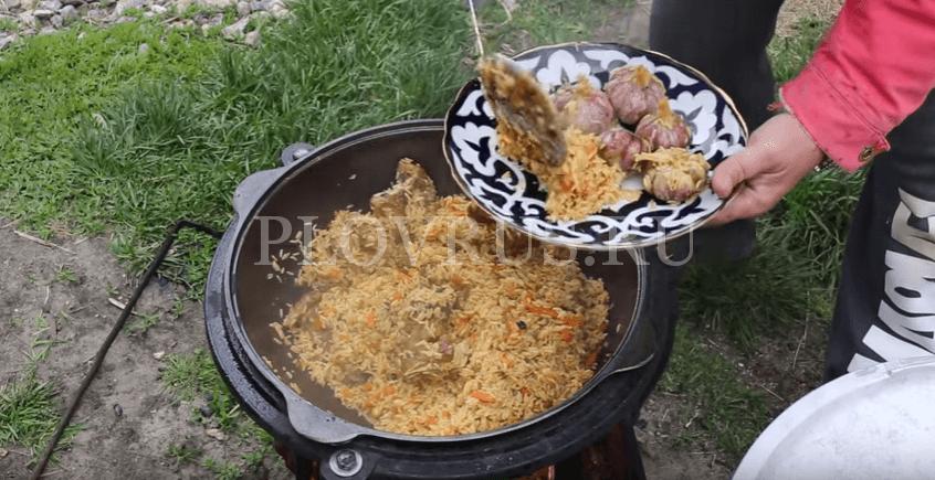 Приготовление плова с баранины: ШАГ 7
