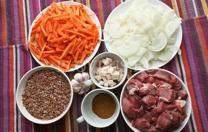 Ингредиенты для плова с бараниной