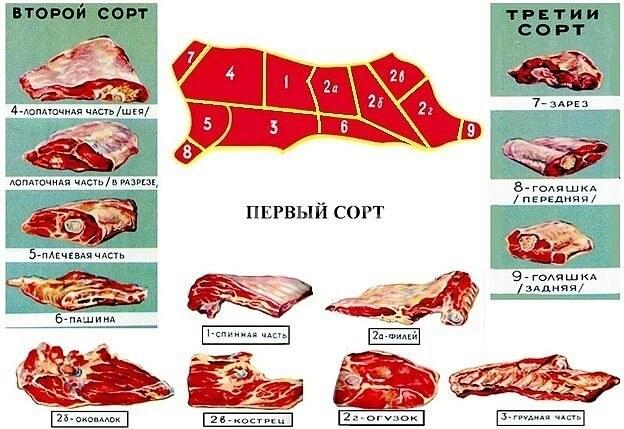 Сорт свинины