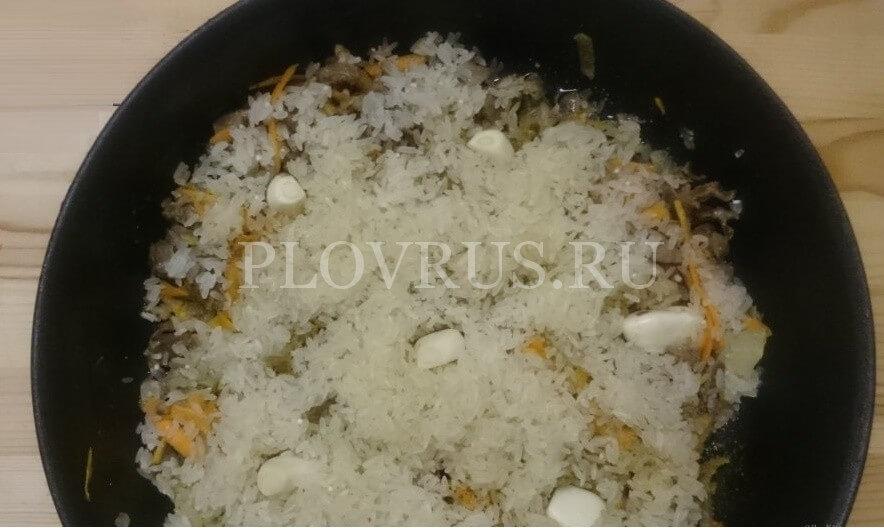 Приготовление плова из куриных желудков-подробный рецепт